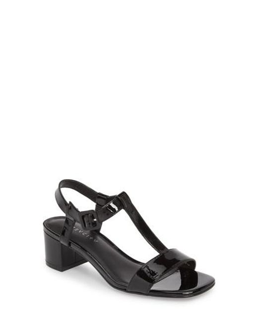 Grey City - Black T-strap Sandal - Lyst