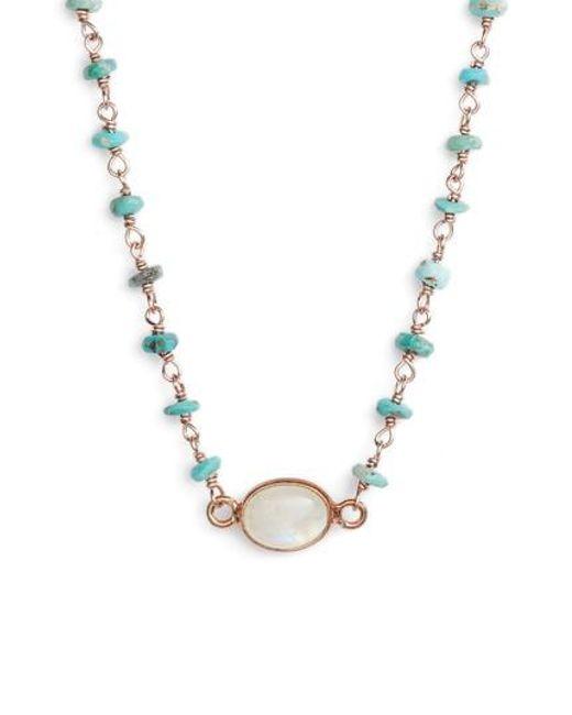 Ela Rae | Multicolor Semiprecious Stone Collar Necklace | Lyst