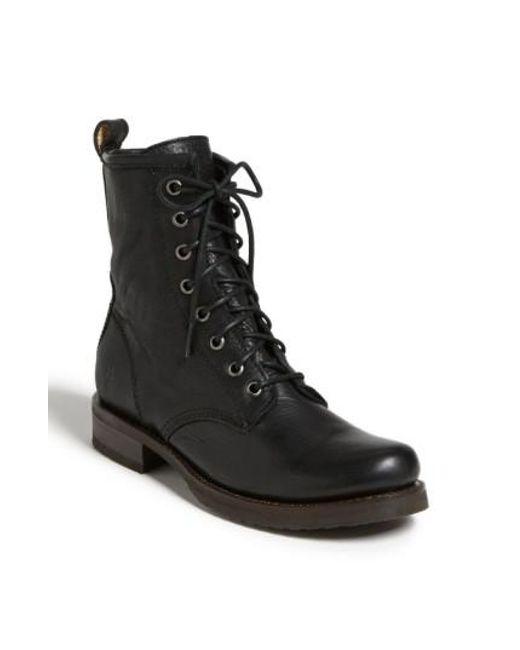 Frye | Black 'veronica Combat' Boot | Lyst