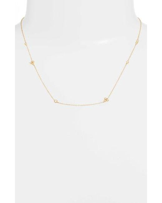 Bony Levy - Metallic Harlowe Short Diamond Station Necklace (nordstrom Exclusive) - Lyst