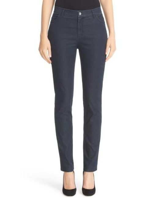 Lafayette 148 New York | Blue 'primo Denim' Curvy Fit Slim Leg Jeans | Lyst