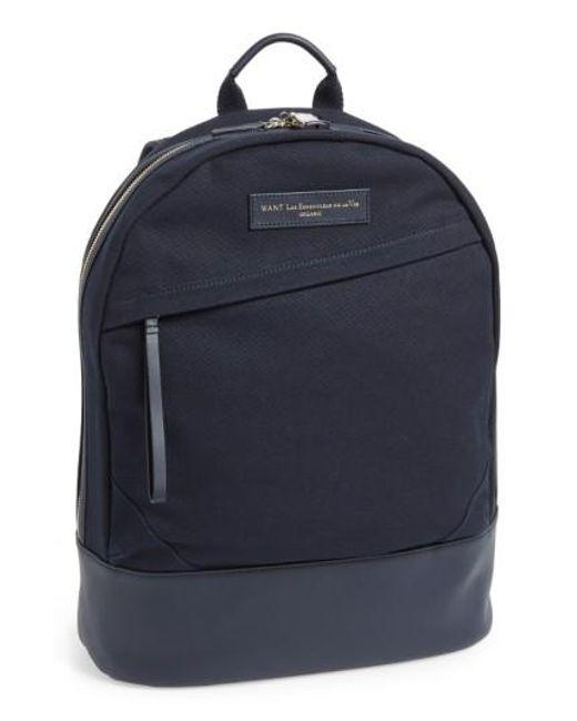 Want Les Essentiels De La Vie | Blue 'kastrup' Backpack for Men | Lyst