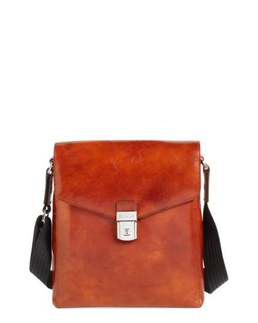 Bosca | Brown 'man Bag' Leather Crossbody Bag for Men | Lyst