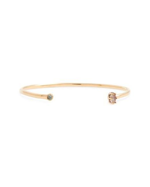 Madewell | Metallic Mix Stone Open Bronze Cuff Bracelet | Lyst