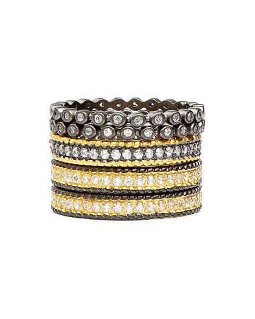 Freida Rothman - Metallic 'the Standards' Stackable Rings (set Of 5) - Lyst