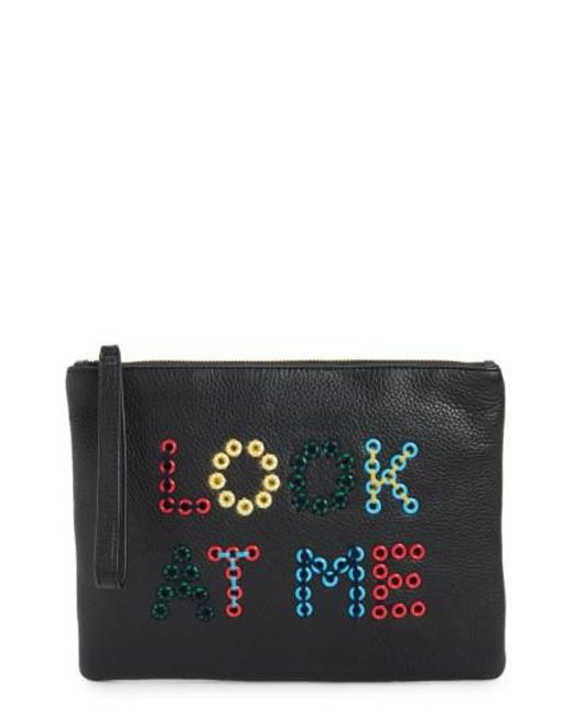 Sam Edelman | Black Layton Look At Me Embellished Pouch | Lyst
