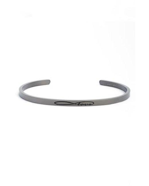 Mantraband - Metallic Infinite Love Cuff Bracelet - Lyst
