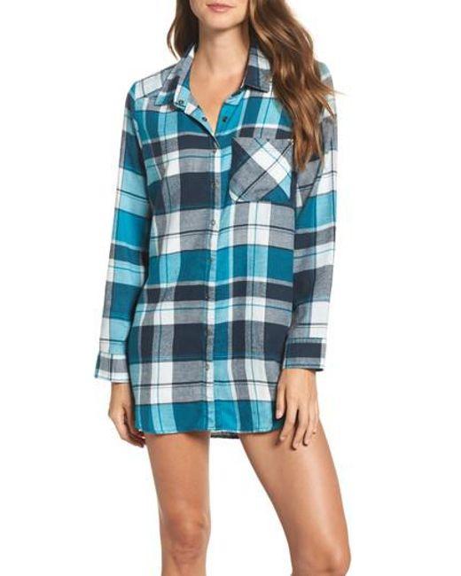 Make + Model | Blue Flannel Nightshirt | Lyst