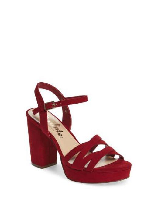 Callisto | Red Paxx Platform Sandal | Lyst