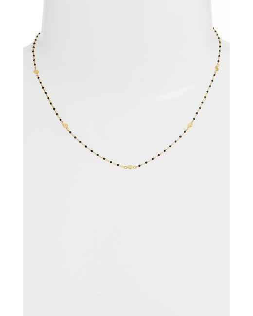 Argento Vivo - Metallic Beaded Station Necklace - Lyst