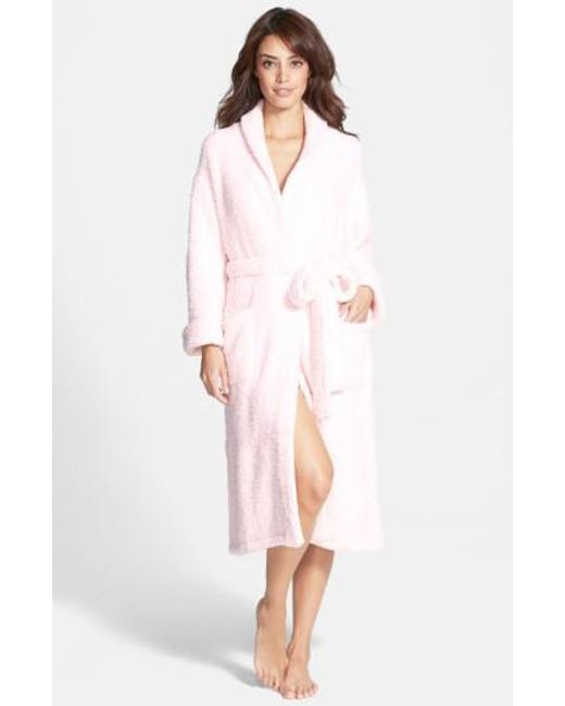 Barefoot Dreams - Pink Barefoot Dreams Cozychic Robe - Lyst