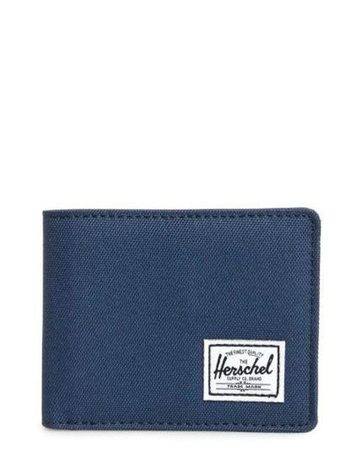 Herschel Supply Co. | Blue Hank Rfid Bifold Wallet for Men | Lyst
