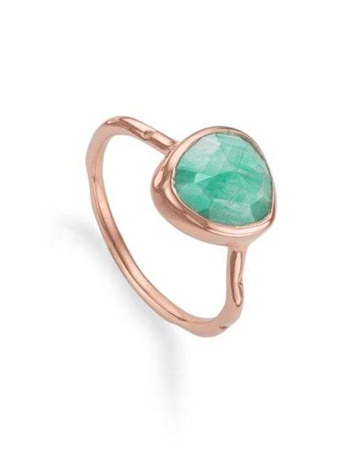 Monica Vinader - Multicolor Siren Semiprecious Stone Stacking Ring - Lyst