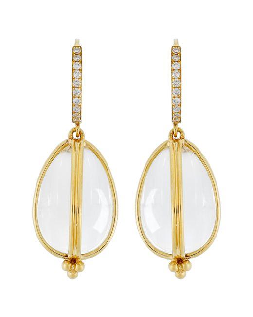 Temple St. Clair - Metallic Temple St. Clair Dia Classic Amulet Drop Earrings - Lyst