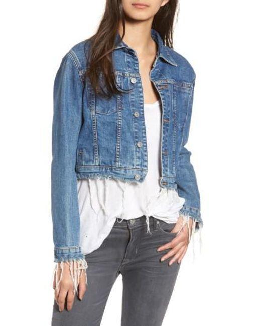 Hudson - Blue Garrison Crop Denim Jacket - Lyst