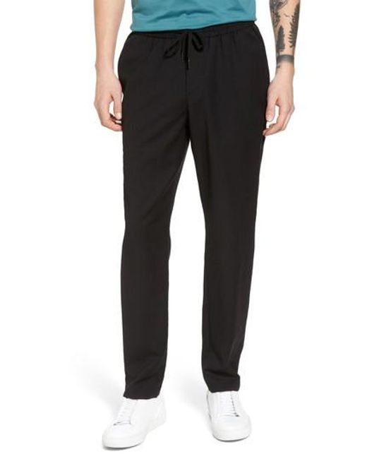 Calibrate - Black E-waist Wool Jogger Pants for Men - Lyst