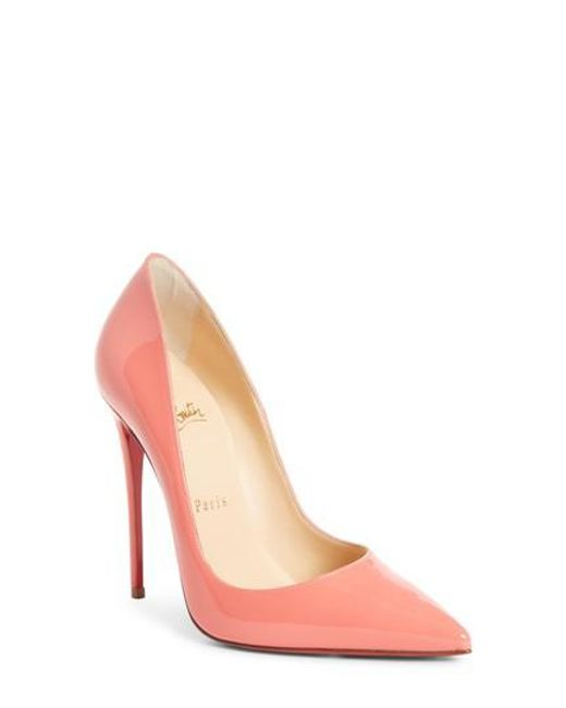 Christian Louboutin - Pink 'so Kate' Pointy Toe Pump - Lyst