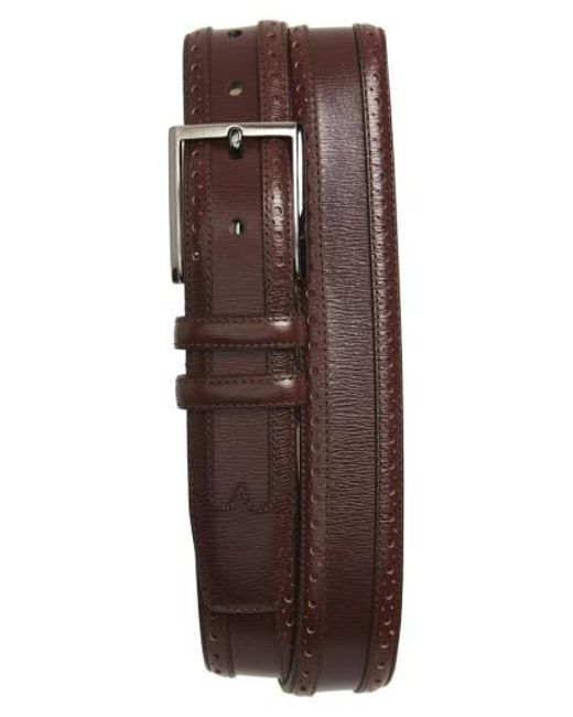 Mezlan - Brown Leather Belt for Men - Lyst
