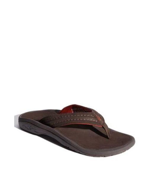 Olukai - Brown Hokua Flip Flop for Men - Lyst