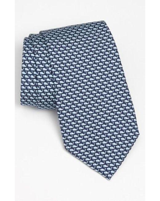 Vineyard Vines - Blue 'whale' Silk Tie for Men - Lyst