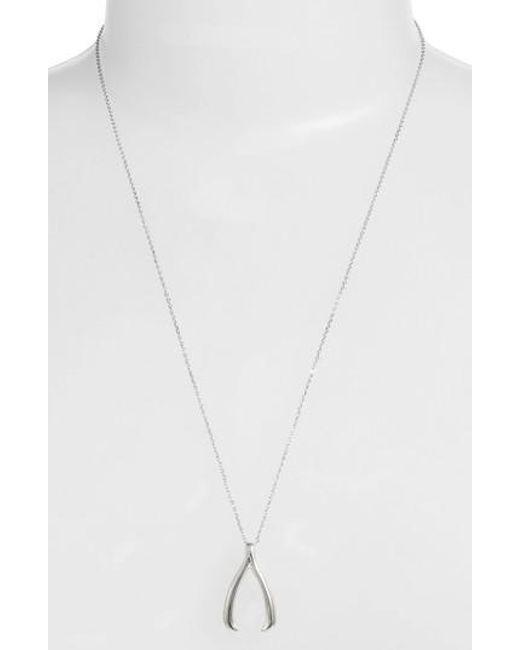 Estella Bartlett | Metallic Wishbone Long Pendant Necklace | Lyst