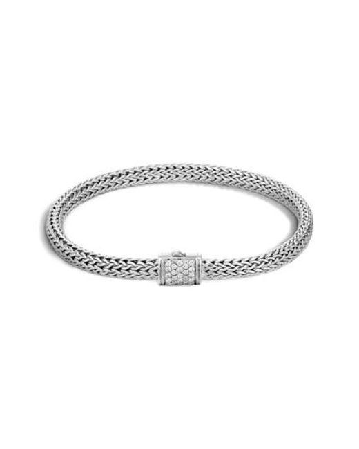 John Hardy - Metallic Extra Small Chain Bracelet With Diamond Clasp - Lyst