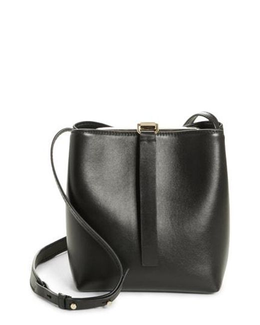 Lyst - Proenza Schouler Frame Leather Crossbody Bag in Black 2d32d6a83c