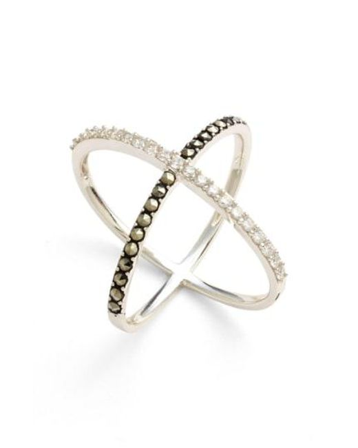 Judith Jack - Metallic 'rings & Things' Crossover Ring - Lyst