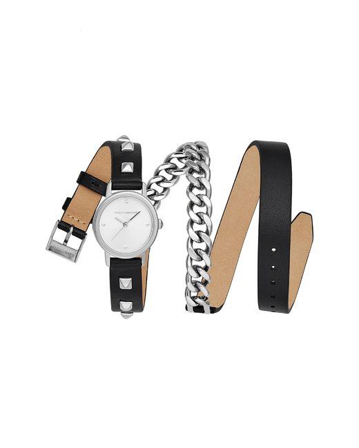 Rebecca Minkoff - White Bffl Chain And Leather Strap Watch - Lyst