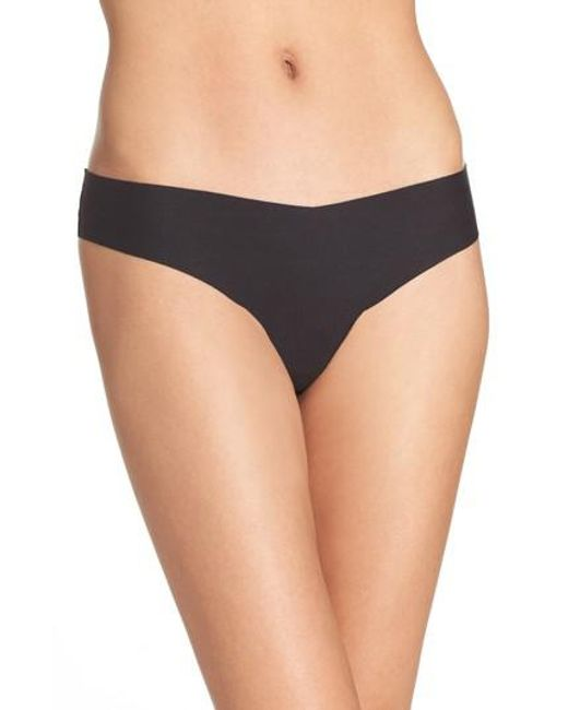 Commando - Black Cotton Thong - Lyst