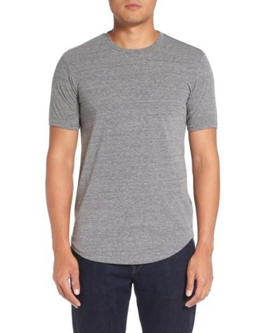 Goodlife   Gray Curved Hem Crewneck T-shirt for Men   Lyst