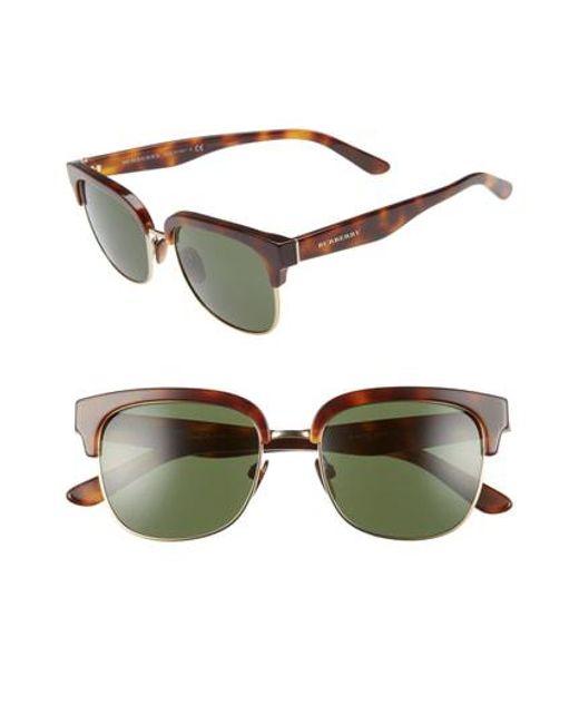 e536f72ba302 Burberry - Metallic Marblecheck 53mm Sunglasses - Light Gold Solid - Lyst