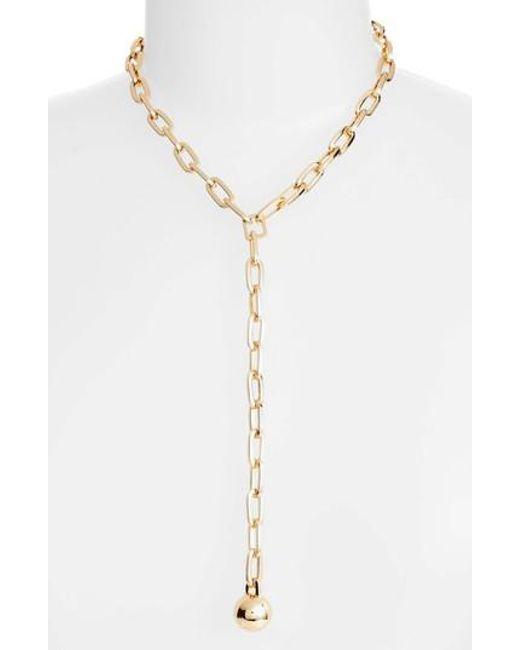Rebecca Minkoff | Metallic Sphere Y-necklace | Lyst