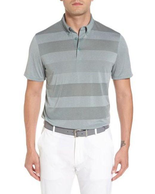 AG Jeans   Gray Hansen Stripe Polo for Men   Lyst