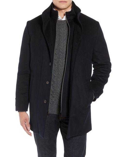 John W. Nordstrom Blue John W. Nordstrom Hudson Wool Car Coat for men