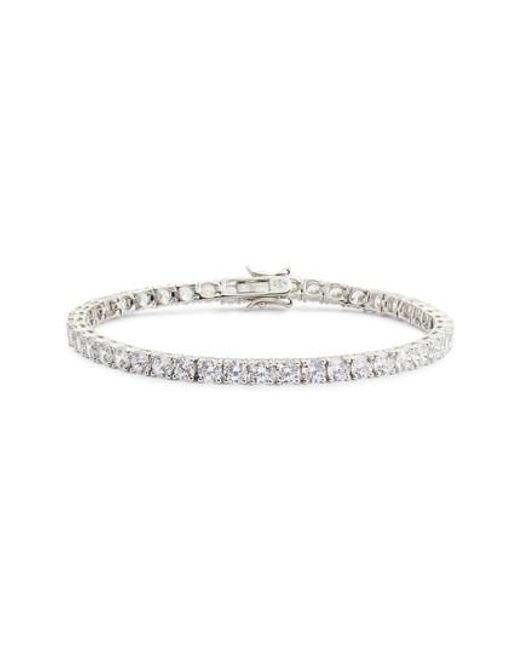 Nordstrom - Metallic Cubic Zirconia Tennis Bracelet - Lyst