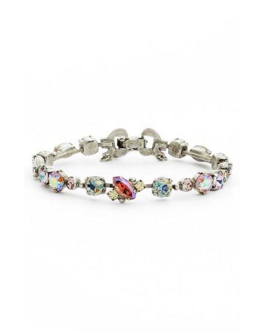 Sorrelli - Purple Modern Muse Crystal Bracelet - Lyst