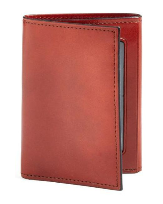 Bosca - Brown 'old Leather' Trifold Wallet for Men - Lyst