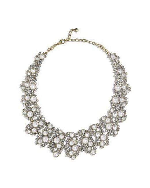 BaubleBar - White Julianna Statement Collar Necklace - Lyst