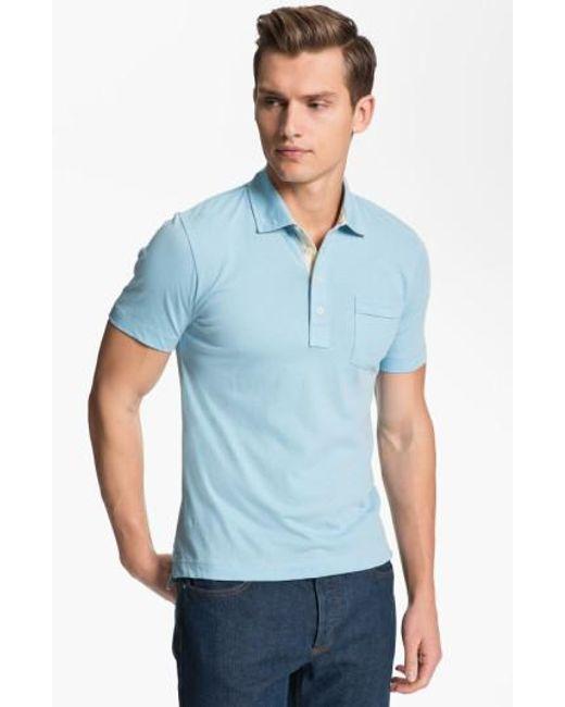 Billy Reid | Blue Pensacola Slim Fit Polo for Men | Lyst