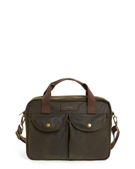 Barbour - Multicolor 'longthorpe' Waxed Canvas Laptop Bag - for Men - Lyst