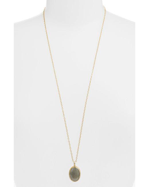 Anna Beck - Metallic Semiprecious Stone Pendant Necklace - Lyst
