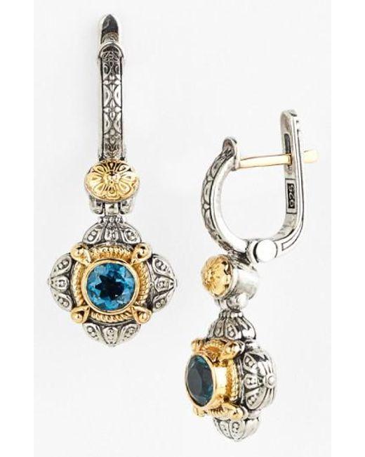 Konstantino | Blue 'hermione' Drop Earrings | Lyst