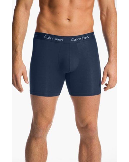 Calvin Klein | Blue U5555 Micromodal Boxer Briefs for Men | Lyst