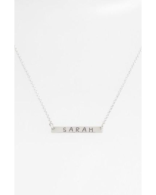 Argento Vivo | Pink Personalized Bar Monogram Necklace (nordstrom Exclusive) | Lyst