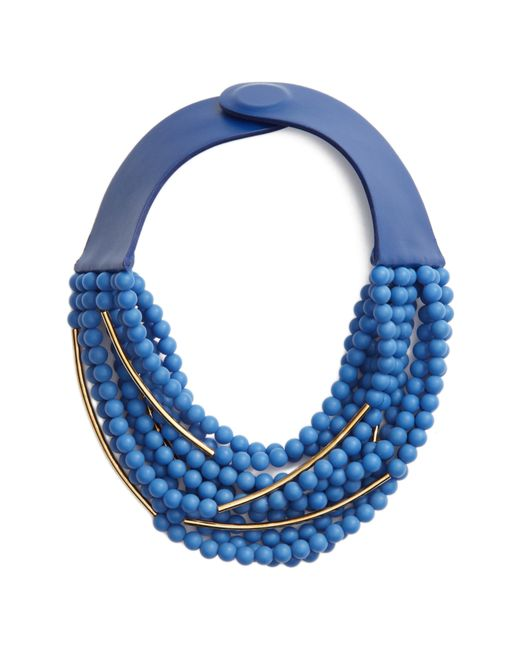 Fairchild Baldwin - Blue Mini Bella Beaded Collar Necklace - Lyst