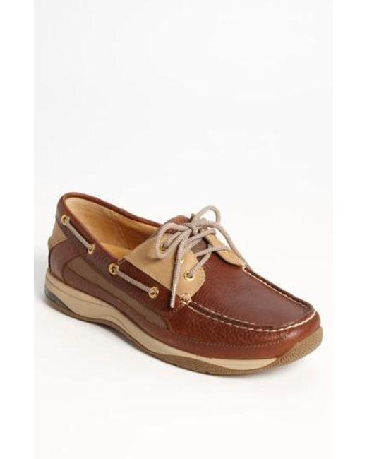 Sperry Top-Sider | Brown 'gold Billfish 3-eye' Boat Shoe for Men | Lyst
