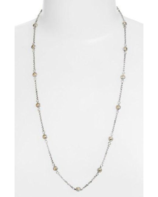 Konstantino - Metallic Station Necklace - Lyst