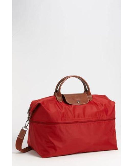 Longchamp | Red 'le Pliage' Expandable Travel Bag | Lyst