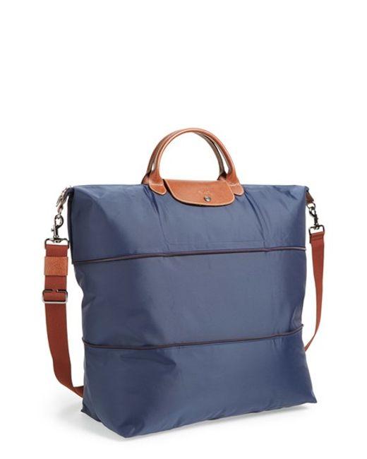 Longchamp | Blue 'le Pliage' Expandable Travel Bag | Lyst